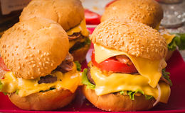 Hamburgers image stock