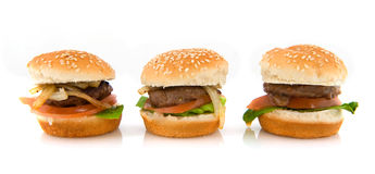 Hamburgers Stock Image