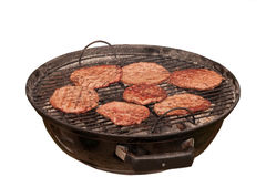 Hamburgers on barbecue Royalty Free Stock Photos