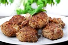 Hamburgers, côtelettes Images stock