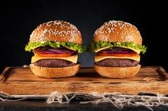 Hamburgers d'hamburgers Photos libres de droits