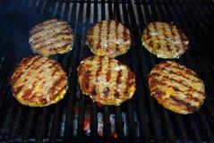 Hamburgers de barbecue Photographie stock libre de droits