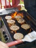 Hamburgers de BBQ Image stock