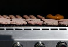 Hamburgers en Hotdogs Stock Afbeeldingen