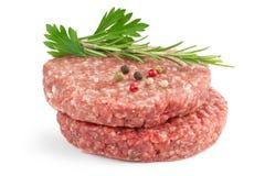 Hamburgers et herbes photographie stock
