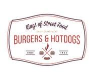 Hamburgers et hot dogs illustration libre de droits