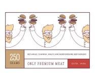Hamburgers et hot dogs d'aliments de préparation rapide illustration libre de droits