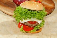 Hamburgers, fast food, burger, hamburger steak, lettuce, tomato, Royalty Free Stock Photo