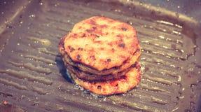Hamburgers ( Filtered image processed vintage eff Stock Image