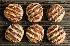Hamburgers grillés Images stock