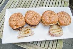 Hamburgers Stock Photography