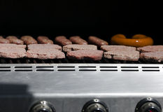 Hamburgers and Hot Dogs Stock Images