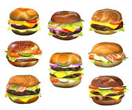 Hamburgers Royalty Free Stock Images