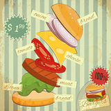 Hamburgers Menu Stock Photos
