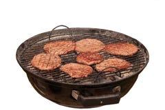 Hamburgers op barbecue Royalty-vrije Stock Foto's