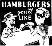 Hamburgers que vous aimerez Photographie stock libre de droits