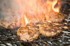 Hamburgers savoureux Images libres de droits