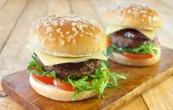 Hamburgers Stock Image