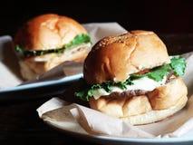 Hamburgers Stock Photos