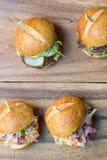 Hamburgerschuiven Stock Afbeelding