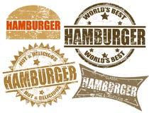 Hamburgerstempel vektor abbildung