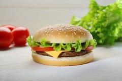 Hamburgerstillleben Stockfotografie
