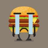 Hamburgeru charakteru płacz Obrazy Stock