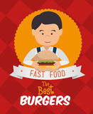 Hamburgeru cyfrowy projekt Zdjęcie Royalty Free