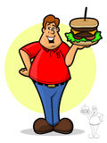 Hamburgeru facet Zdjęcia Stock