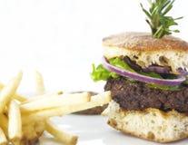 Hamburgeru gość restauracji Obraz Royalty Free