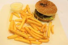 Hamburgeru i francuza dłoniaków menu Hamburgeru i francuza dłoniaków menu Zdjęcie Royalty Free