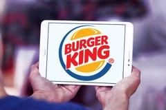hamburgeru królewiątka logo Zdjęcia Royalty Free