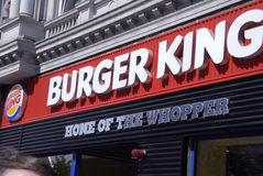 hamburgeru królewiątko Zdjęcie Royalty Free