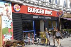hamburgeru królewiątko Obrazy Royalty Free