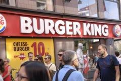 hamburgeru królewiątko Zdjęcia Stock