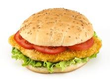 hamburgeru kurczak Fotografia Royalty Free