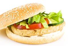 hamburgeru kurczak Zdjęcia Stock