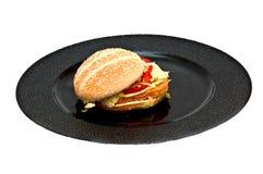 hamburgeru kurczak Obrazy Royalty Free