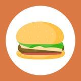 hamburgeru kurczaka fastfood gorący smakowity royalty ilustracja