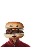 hamburgeru mężczyzna Fotografia Royalty Free