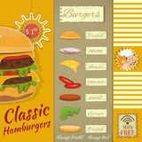Hamburgeru menu Obraz Royalty Free
