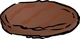 Hamburgeru piec na grillu pasztecik Ilustracji