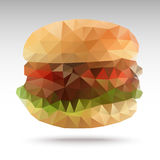 Hamburgeru Poligonalny geometryczny Zdjęcia Royalty Free