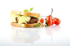 hamburgeru sałaty mięsa pomidor Obraz Stock
