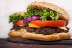 hamburgeru smakowity świeży Zdjęcie Royalty Free