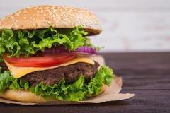 hamburgeru smakowity świeży Obrazy Stock