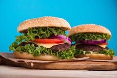 hamburgeru smakowity świeży Obraz Stock