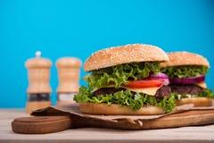 hamburgeru smakowity świeży Zdjęcia Stock