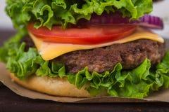 hamburgeru smakowity świeży Obraz Royalty Free