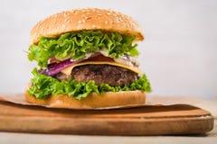 hamburgeru smakowity świeży Obrazy Royalty Free